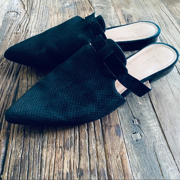 Caslon Shoes - Black Caslon Flat Mule Slides